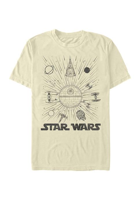 Star Wars® Ships and Lines Burst Short Sleeve