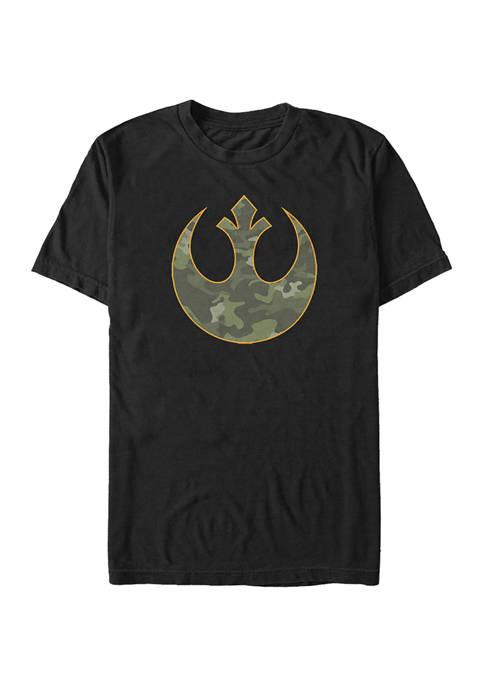 Camouflage Rebellion Graphic T-Shirt