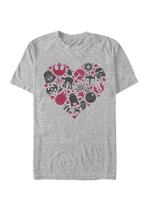 HEART ICONS Short Sleeve Graphic T-Shirt