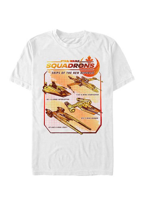 - Squadron Rebel Ships Short Sleeve Graphic T-Shirt