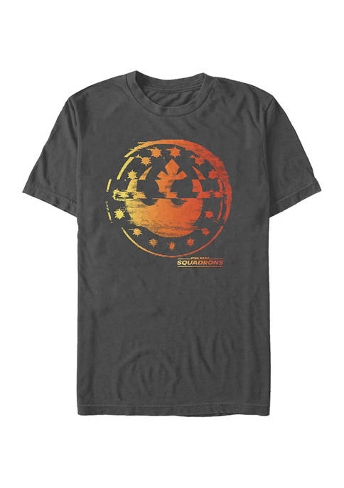 - Squadron Logo Glitches Short Sleeve Graphic T-Shirt