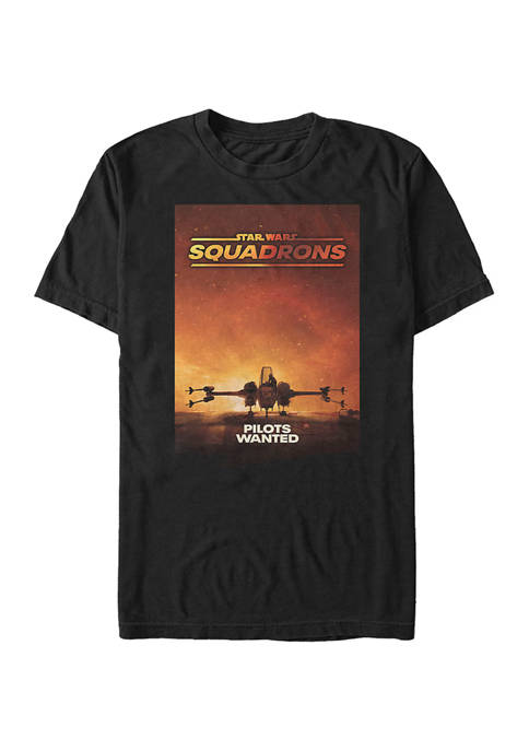 - Squadron Pilots Wanted Short Sleeve Graphic T-Shirt