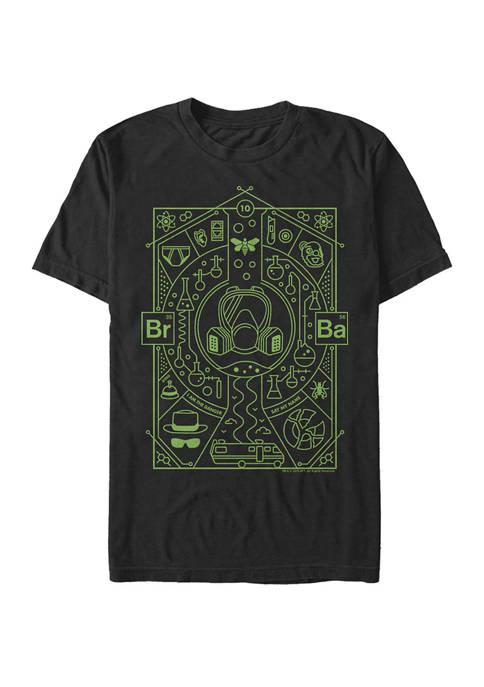 Big & Tall Line Art Glyphs Short Sleeve Graphic T-Shirt