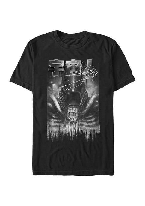Alien Splatter Graphic T-Shirt