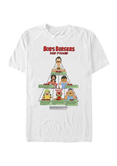Bob's Burgers Food Pyramid Graphic T-Shirt
