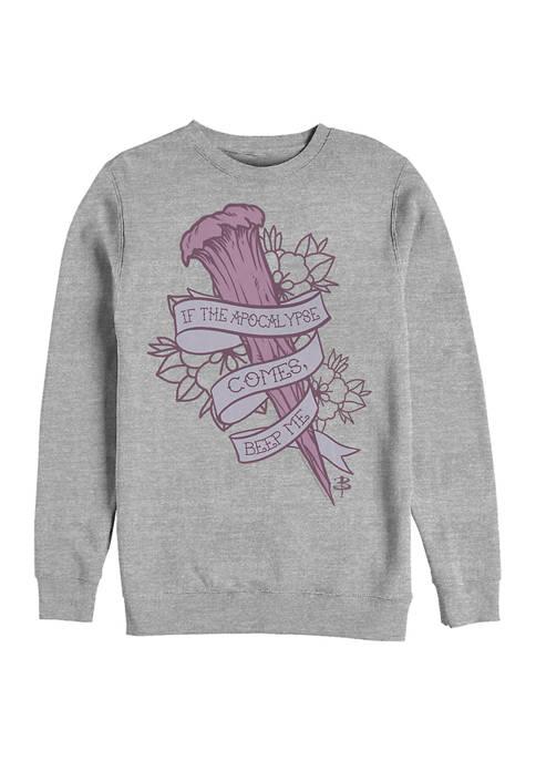 Buffy the Vampire Slayer Beep Me Crew Fleece Graphic Sweatshirt