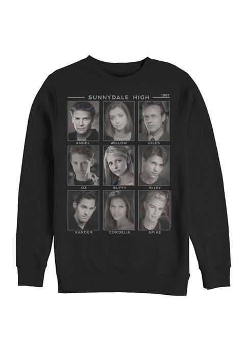 Buffy the Vampire Slayer Faces of Crew Fleece Graphic Sweatshirt