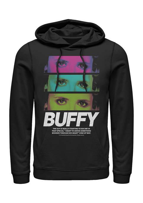 Buffy the Vampire Slayer Stack Graphic Fleece Hoodie