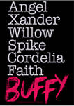 Buffy the Vampire Slayer Name Stack Crew Fleece Graphic Sweatshirt