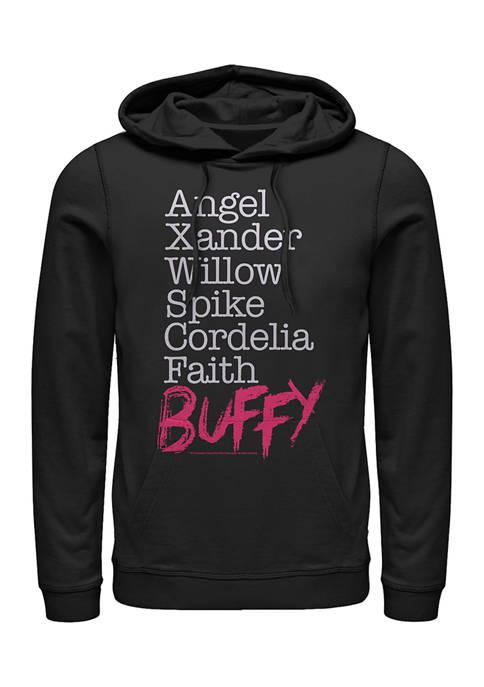 Buffy the Vampire Slayer Name Stack Graphic Fleece