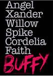 Buffy the Vampire Slayer Name Stack Graphic Fleece Hoodie