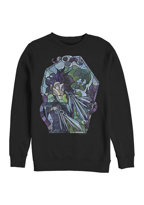 Edward Scissorhands Stained Glass Crew Fleece Graphic Sweatshirt