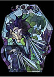 Edward Scissorhands Stained Glass Graphic Fleece Hoodie