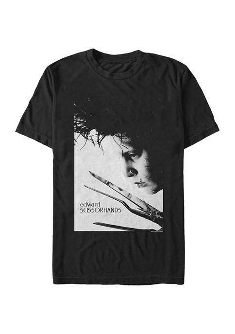 Edward Scissorhands Close Up Poster T-Shirt
