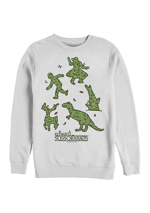 Edward Scissorhands Topiaries Crew Fleece Graphic Sweatshirt