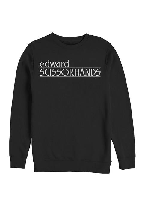 Edward Scissorhands Logo Crew Fleece Graphic Sweatshirt