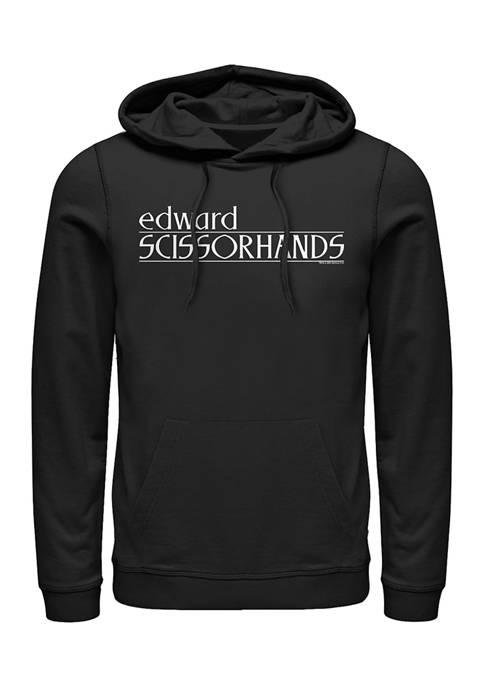 Edward Scissorhands Logo Graphic Fleece Hoodie