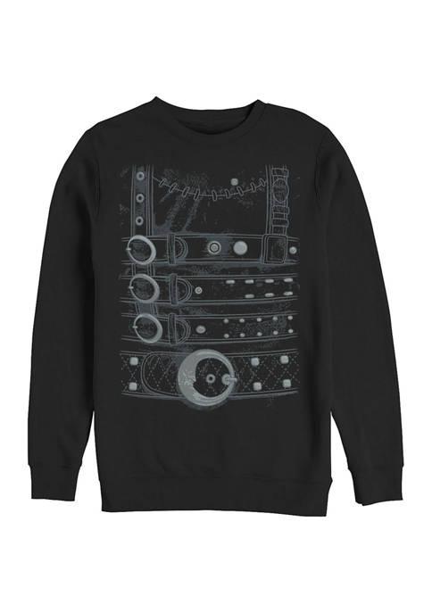 Edward Scissorhands Costume Crew Fleece Graphic Sweatshirt