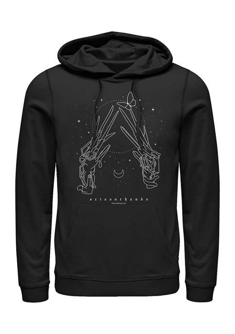 Edward Scissorhands Celestial Scissors Graphic Fleece Hoodie