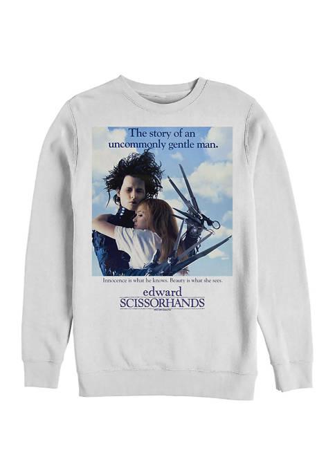 Edward Scissorhands Couple Poster Crew Fleece Graphic Sweatshirt
