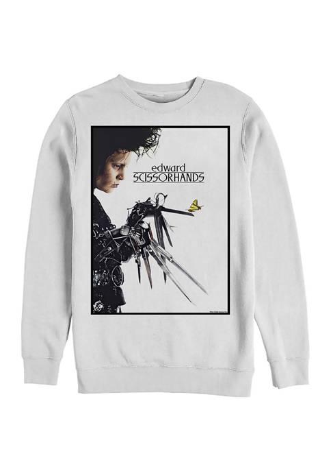 Edward Scissorhands Butterfly Poster Crew Fleece Graphic Sweatshirt