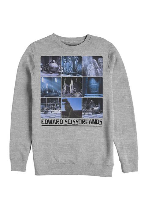 Edward Scissorhands Nine Up Crew Fleece Graphic Sweatshirt