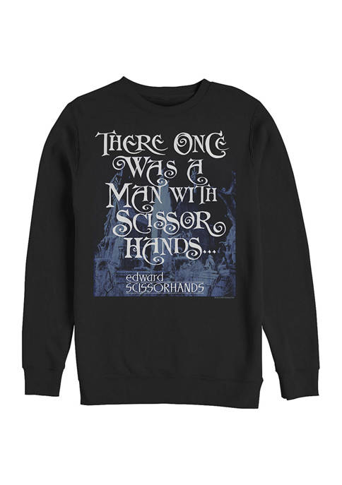 Edward Scissorhands Once Was a Man Crew Fleece