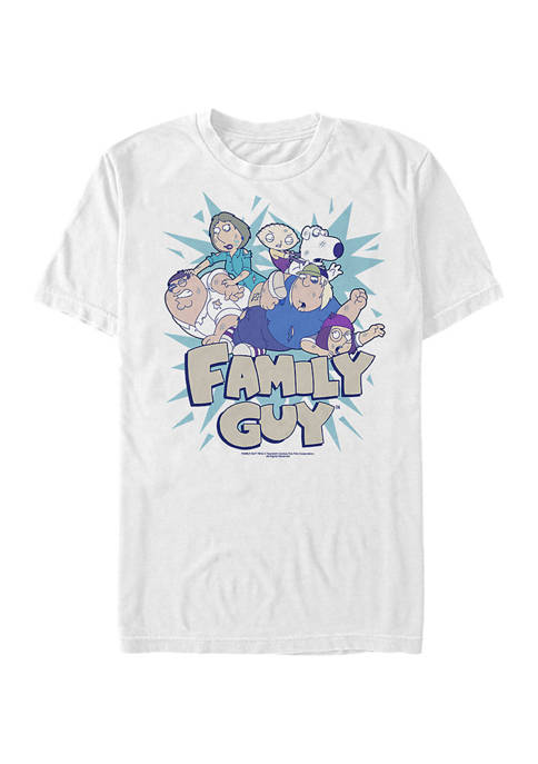 Family Guy Group Fight Graphic T-Shirt