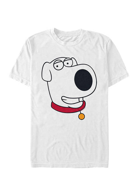 Family Guy Brian Face Graphic T-Shirt