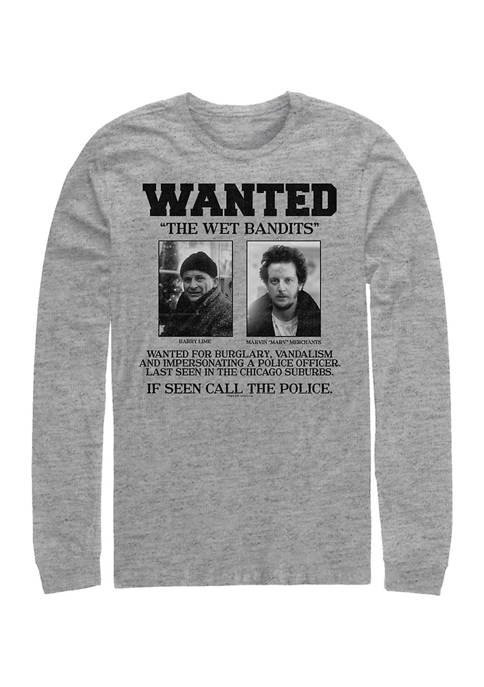Home Alone Wet Bandits Wanted Poster Long Sleeve