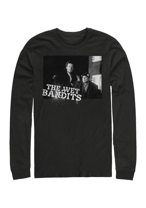 Home Alone The Wet Bandits Long Sleeve Crew Graphic T-Shirt