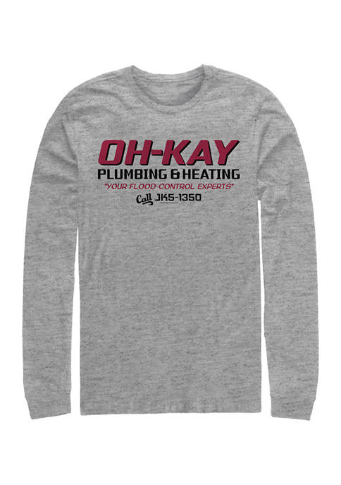 Home Alone OH-KAY Plumbing Long Sleeve Crew Graphic