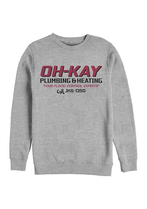 Home Alone OH-KAY Plumbing Crew Fleece Graphic Sweatshirt