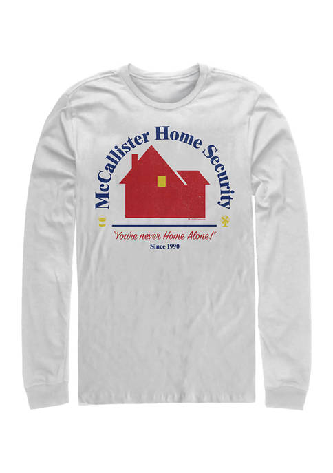 Home Alone Home Security Long Sleeve Crew Graphic