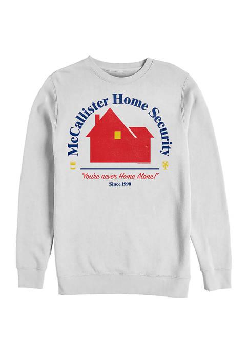 Home Alone Home Security Crew Fleece Graphic Sweatshirt