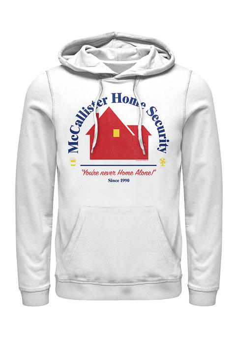 Home Alone Home Security Graphic Fleece Hoodie
