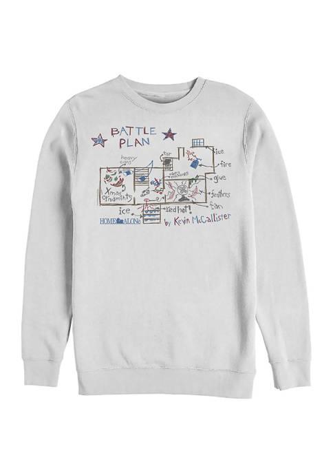 Home Alone Kevins Plan Crew Fleece Graphic Sweatshirt
