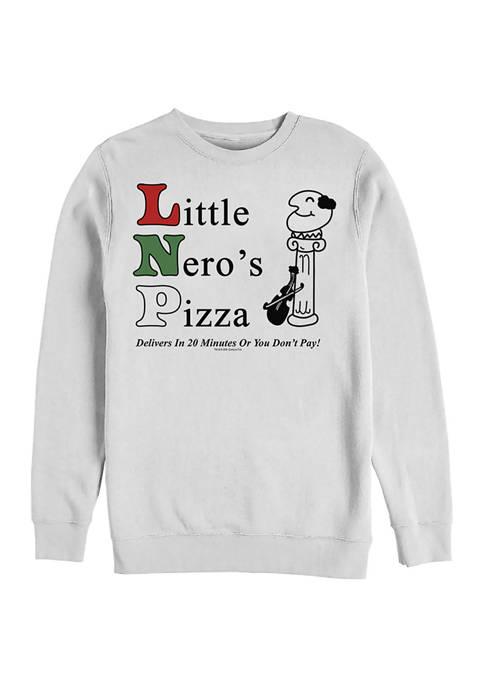 Home Alone Little Neros Pizza Crew Fleece Graphic