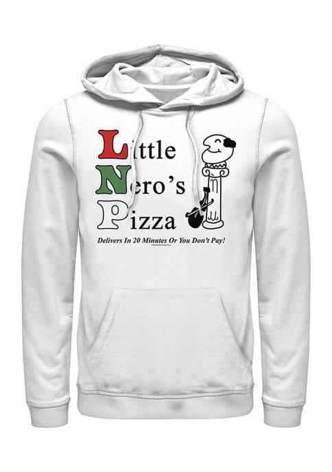 Home Alone Little Neros Pizza Graphic Fleece Hoodie