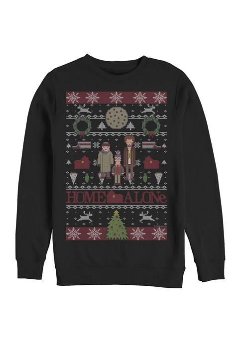 Home Alone Sweater Alone Crew Fleece Graphic Sweater