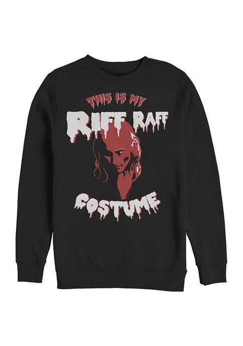 Rocky Horror Picture Show This is My Riff Raff Costume Crew Fleece Graphic Sweatshirt