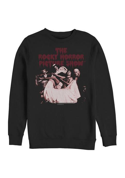 Rocky Horror Picture Show Throne Tonal Crew Fleece Graphic Sweatshirt