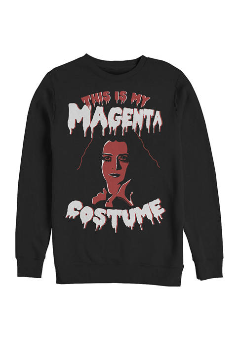 Rocky Horror Picture Show This is My Magenta Costume Crew Fleece Graphic Sweatshirt