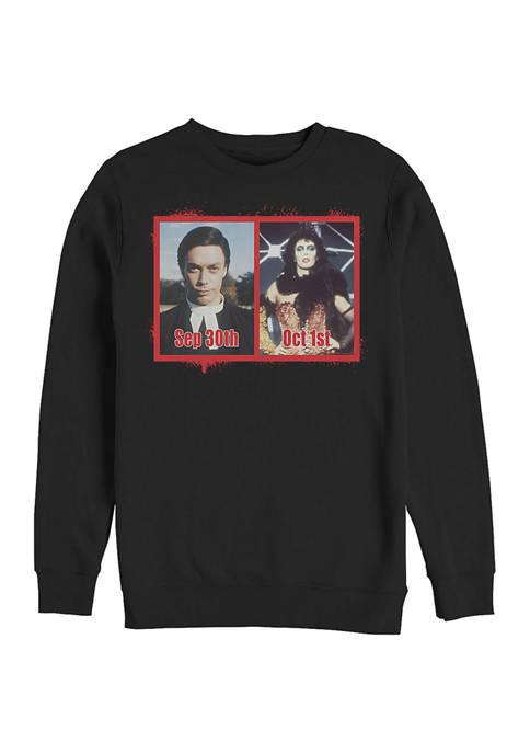 Rocky Horror Picture Show Halloween Meme Crew Fleece Graphic Sweatshirt