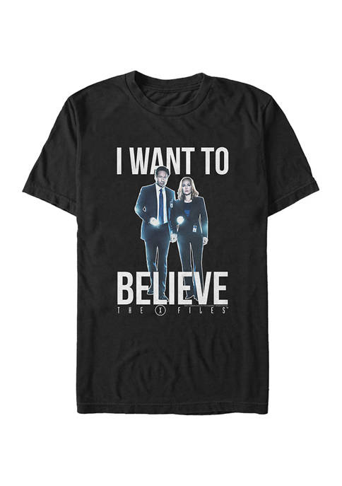 X-Files I Want to Believe Graphic T-Shirt