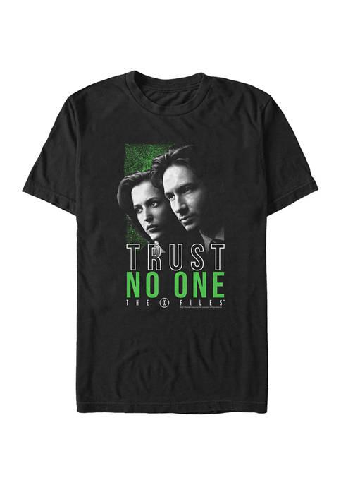 X-Files Trust No One Hero Shot Graphic T-Shirt