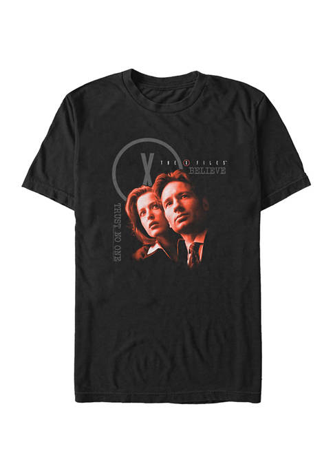 Mulder Skully Believe Trust No One Graphic T-Shirt