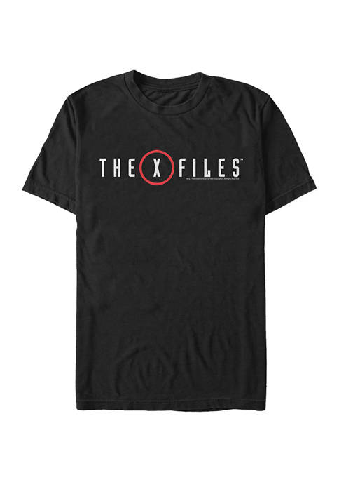 X-Files Red Logo Short Sleeve Graphic T-Shirt