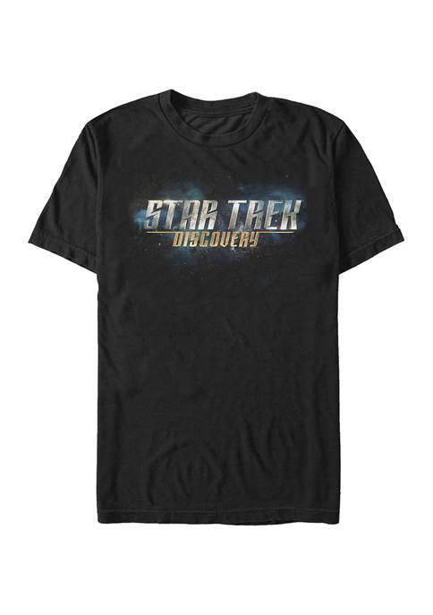 Discovery Logo Nebula Graphic T-Shirt