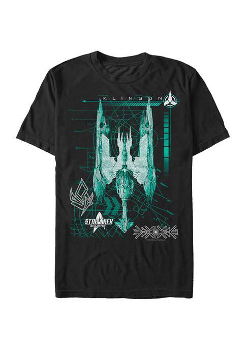 Klingon Ship Graphic T-Shirt